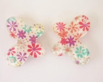 2 resin 20x15mm Butterfly charms