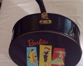 Vintage 1961 Black Barbie Hat Box
