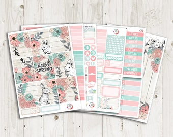 Hello Spring Vertical Weekly Kit - ECLP, TN, Personal, Happy Planner Stickers