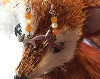 Fox Dangle Earrings