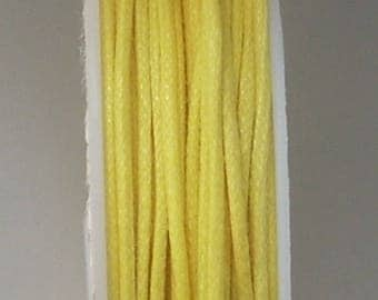 0.5 mm x1metre yellow cotton thread