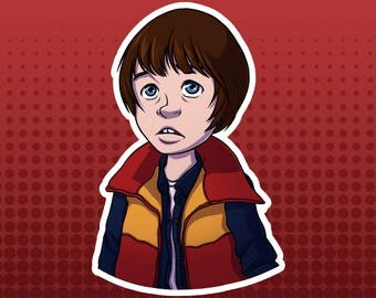 Stranger Things - Will Byers Vinyl Character FanArt Die Cut Bust Sticker