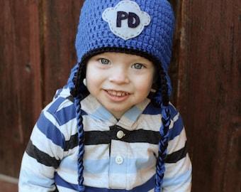 Police hat, crochet childrens hat