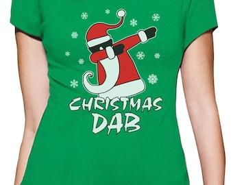 Dabbing Santa Christmas Dab Funny Xmas Women T-Shirt