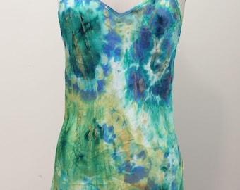 Handdyed/handpainted silk cami top