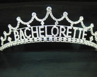 Bachelorette Tiara, Silver Tiara, Bachelorette Party Tiara, Hen Party Tiara, Bride to Be Tiara, Bridal Shower Gift, Bachelorette Party Gift