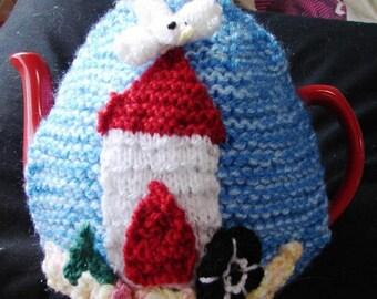 CRAFT KIT - Knitting Kit - Tea Cosy Kit - Tea Cosy Knitting Kit - Beach Hut Tea Cosy - Hand Knitted Tea Cosy - Craft Kit - Craft Supplies