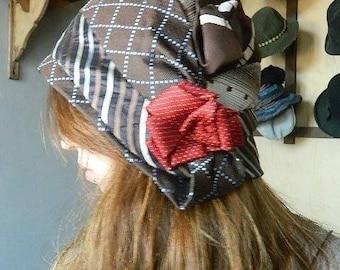 vintage unique tie Hat