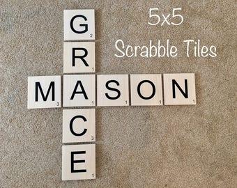 Scrabble Tiles/Wall Art 5x5