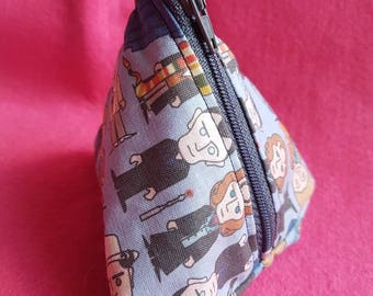 4 inch Doctors inspired coin purse