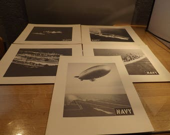 Five Military Navy Enlarged Photos