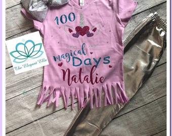 100 day of school shirt, Magical 100 days of school, unicorn 100 days of shool top