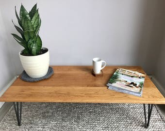 """On-Hold.....Reclaimed Oak Coffee Table with  14"""" Hairpin Legs"""