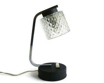 Mid Century Modern small bedside lamp, 60s night light, desk lamp