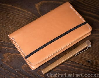 Leuchtturm 1917 Pocket (A6) hardcover notebook cover, bridle leather - tan