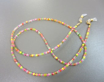 Multicoloured Bright Beaded Glasses Chain, Brightly Coloured Eyeglass Chain, Mixed Sherbet Spectacle Chain