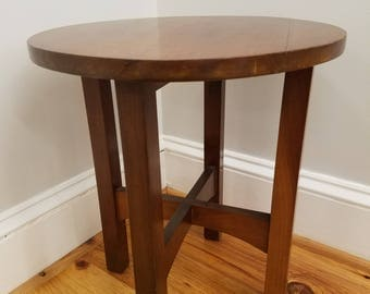 Petite Arts and Crafts Era Solid Cherry Side Table, ca 1910