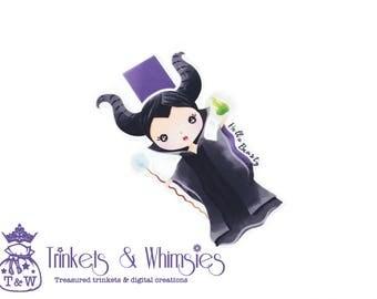 A Lil' Bit of Wicked - Sleeping Beauty Maleficent Fan Art Magnetic Bookmark