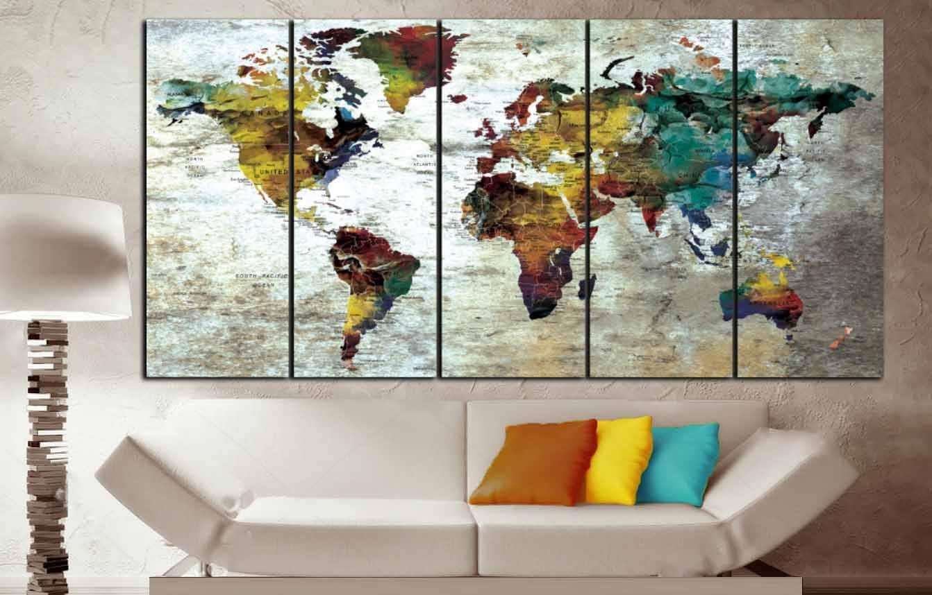 World map wall artworld map canvas artworld map printworld map world map wall artworld map canvas artworld map printworld map canvas printlarge world map large canvas maplarge travel map push pin gumiabroncs Image collections