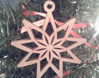 Wooden Christmas Ornament Christmas Star Ornament