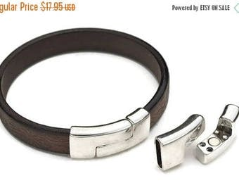 30% OFF 15MM Curved Magnetic Clasp - Antique Silver - High Quality Metal Casting - Strong Magnetic - Silver Plated - Qty 1