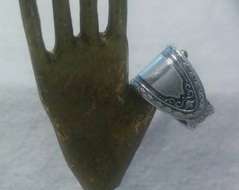 Spoon Ring Silver Ondeida LTD Stacking Size 6 Stunning Detailed Silver Plate