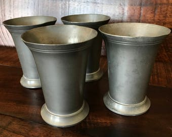 SALE: Set of 4 K R Holland Pewter Cups, Roelen Tin BV Zeist/De Bilt