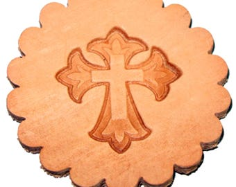 3-D Cross Leathercraft Stamp 8614-00
