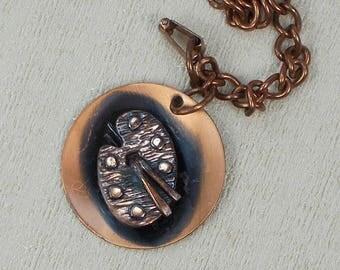 Copper Painters Palette Single Drop Charm Bracelet  3001