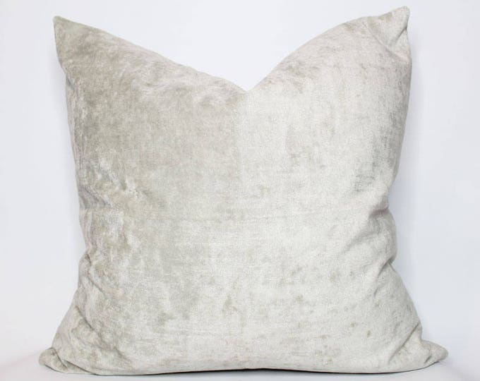 ultra luxe gray velvet pillow