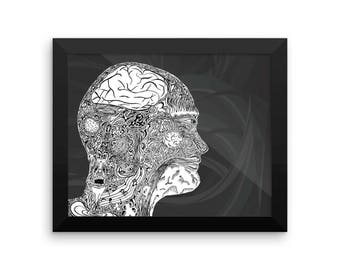 Metacognition - Framed photo paper poster