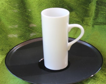 Black and White Demitasse cup and saucer