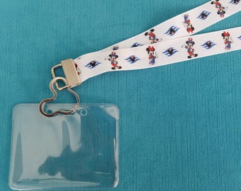 Disney Cruise Lanyard - DCL - Patriotic Mickey & Minnie - 4th of July - Independence Day - Non-scratchy - Child or Adult