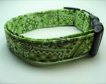Green Bandana Dog Collar