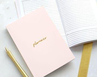 Rosa cipria e oro foglio A5 Planner - To Do List Planner - Planner - 2018 Planner - Todo List - motivazionale cartoleria - agende