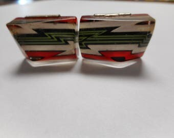 Cool Vintage Lucite Cuff Links