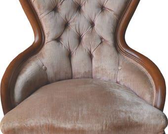 17034 Victorian Ladies Sitting Chair – Balloon back