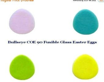 GlassLine Pens Bullseye COE 90 EASTER EGGS Set/4 Precut Fusible Glass Fusing Mosaic Supplies