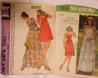 McCalls 3562 and Simplicity 7543 Womens Dress Patterns