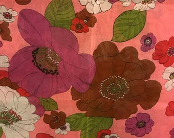 French Textile Floral Yardage