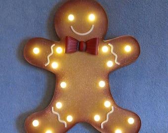 Accent Lamp - Gingerbread Man Lamp - Holiday Lamp - Christmas