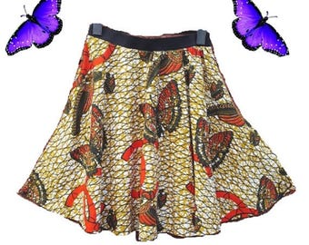 Flash Sale Ankara Skater Skirt
