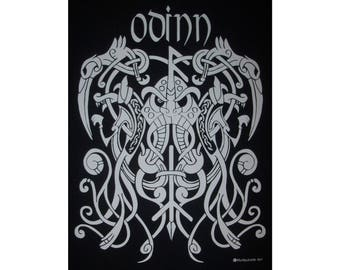 Odinn Odin Knot Rune Viking God Norse T-Shirt WH