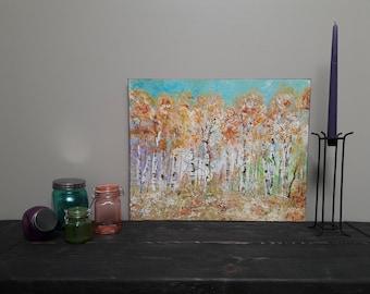 Acrylic Tree Painting | Modern  Landscape | Original | Palette Knife | Tree Painting | Birch Tree Wall Art | 16x20 Canvas | by Jillsfineart