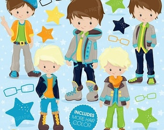 80% OFF SALE Fashion boys clipart commercial use, kid clipart vector graphics, boy digital clip art, digital images - CL777