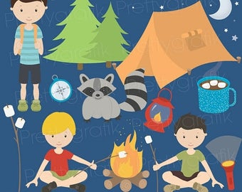 80% OFF SALE camping clipart commercial use, vector graphics, digital clip art, digital images  - CL522