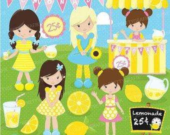 80% OFF SALE Lemonade stand clipart commercial use, vector graphics, digital clip art, digital images - CL682