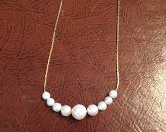 """Vintage Napier Faux Pearl 16"""" Necklace"""