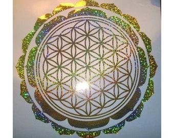 "Lotus Flower vinyl Decal various colours 11""  28cm"