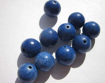 10 Blue 10 mm (A) agate beads
